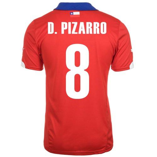 航海の借りている適格Puma D. PIZARRO #8 Chile Home Jersey World Cup 2014/サッカーユニフォーム チリ ホーム用 ワールドカップ2014 背番号8 ダビド?ピサーロ