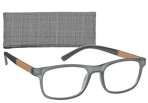 ICU Eyewear Bolton Eco Friendly Grey Leatherette Trim Temple - Friendly Eco Eyewear