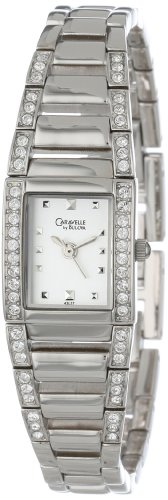 Caravelle by Bulova Women's 43L57 Crystal Accented Silver and White Dial Watch