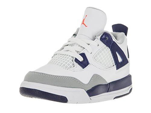 Nike Jordan Toddlers Jordan 4 Retro Gt White/Hyper Orange...