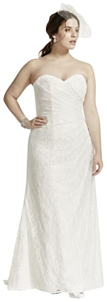 Strapless Lace Over Satin Plus Size Wedding Dress Style 9WG3263 Ivory 20W