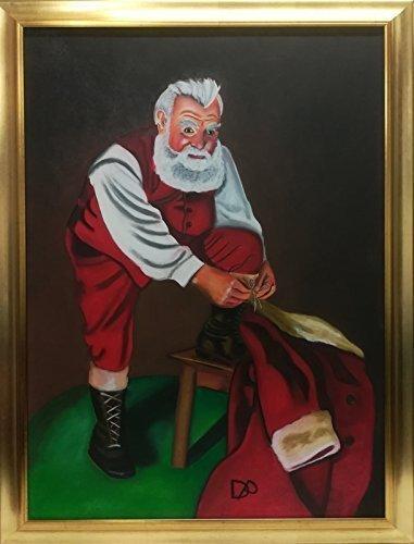 Babbo Natale Originale.Quadro La Vestizione Di Babbo Natale Idea Regalo Originale Per