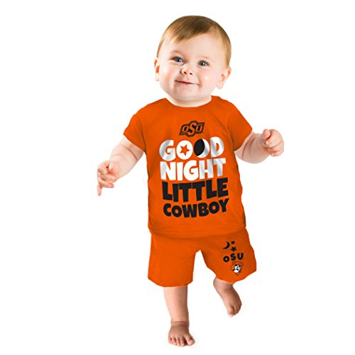 - NCAA Oklahoma State Cowboys Boys Short Pajama Set, 12-18 Months, Orange