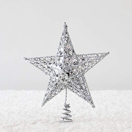 wide smile Christmas Decoration Star Christmas Tree Topper Decoration Sliver