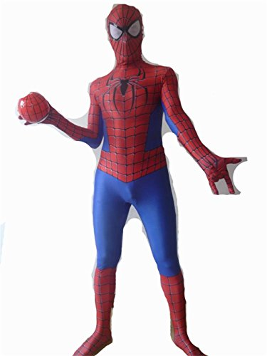 Captain America Civil War Spider Man Lycra Spandex Tights cosplay costume (Custom Made Captain America Costume)