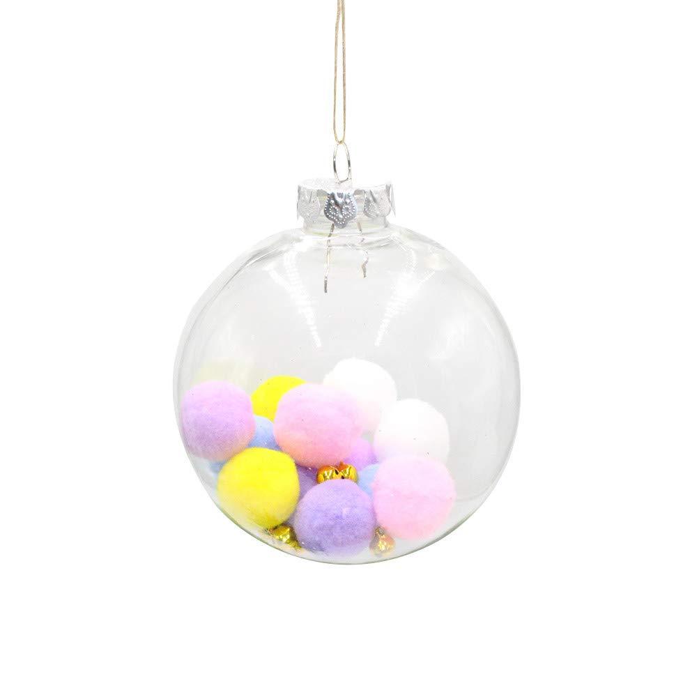 MomeChristmas Ornament 2018 New Christmas Tree Pendant-Xmas DIY Crafts-Hanging Home Decor - Cute Christmas Ball- Kids Children Gift (A)