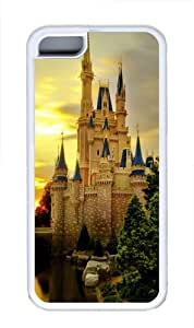 iPhone 5C Case, iPhone 5C Cases -Cinderella Castle TPU Rubber Soft Case Back Cover for iPhone 5C White