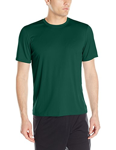 Champion Men's Short Sleeve Double Dry Performance T-Shirt, Dark Green, Medium