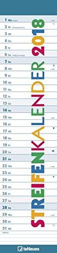 Streifenkalender 2018 - Notizkalender, mit Tagesreiter, Spiralbindung  -  11,3 x 49,5 cm