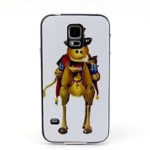 WQQ Gafas de 2-en-1 patrón TPU camello cubren con paragolpes pc estuche blando a prueba de golpes para i9600 Samsung Galaxy S5