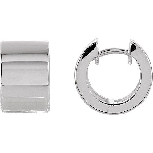 - Sterling Silver 13.5 mm Hinged Earrings