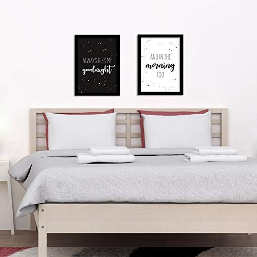 Poster Schlafzimmer - Always kiss me goodnight - And in the morning ...