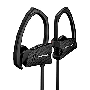 Wireless Sports Headphones, Rademax Wireless Bluetooth Earbuds Sweatproof Earphones Noise Cancelling Headsets In-ear Buds for Sports Running