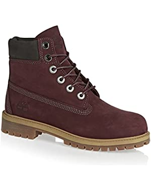 CA1AD1 Toddlers 6 Inch Premium Waterproof Boots, Color: Dark Port, Size: 2.5 Little Kid M