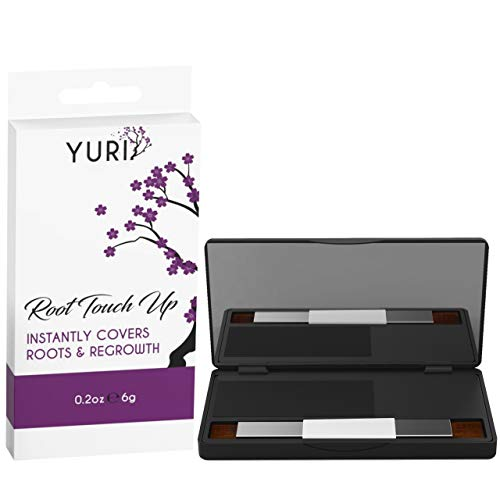 Yuri Premium Instant Root Touch Up Powder - Black - Temporary Root Concealer for Extending Time Between Coloring - Lasts Until You Shampoo -