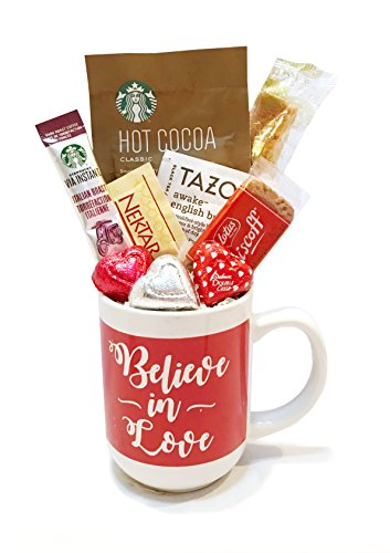 Valentines Gifts - Valentine's Coffee Gift Sets - Cocoa Gift Sets - Gifts for Children, Teens, Tweens, Preteens, Adults, College Students, Military, Mom, Dad (Believe In Love)