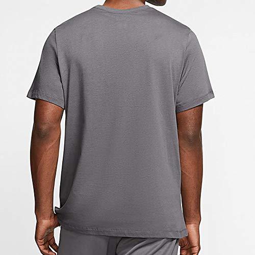Nike Men's Sportswear Club T-Shirt AR4997-021 Size L Dark Grey/White/Black 2