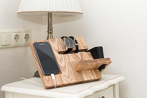 Mini Overhead Door (Men docking station - Wooden phone dock - Wooden phone holder - Dock station gift - Wood docking station - Charging dock - Husband gift idea)