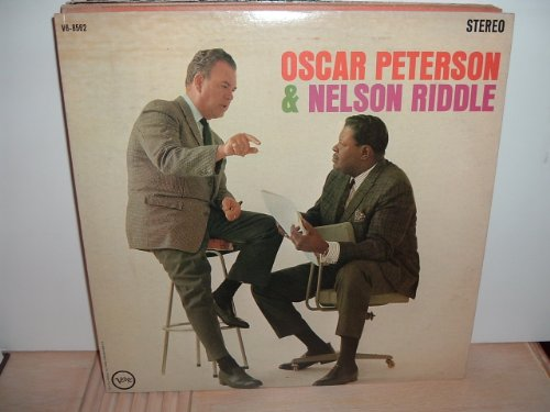 (Oscar Peterson and Nelson Riddle - rare 1963 Verve Stereo Jazz vinyl LP.)