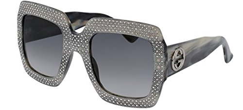 Gucci GG 0048 S- 001 GREY Sunglasses