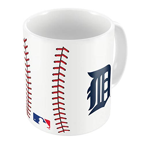 MLB Baseball Mug 15oz Coffee Tea (Detroit Tigers) (Mustang 15 Ounce Mug)