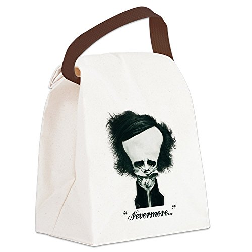 CafePress - Poe Canvas Lunch Bag - Canvas Lunch Bag with Strap Handle