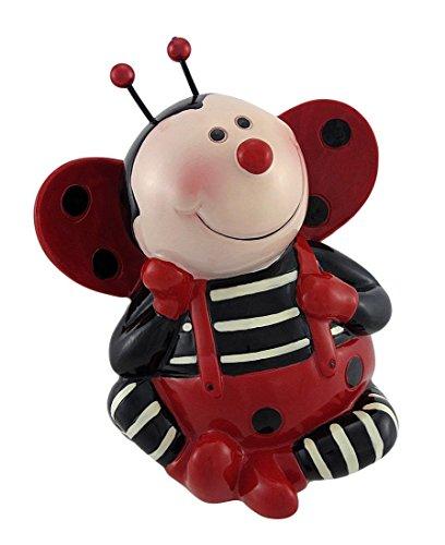 Adorable Sitting Ladybug Coin Bank Money Piggy