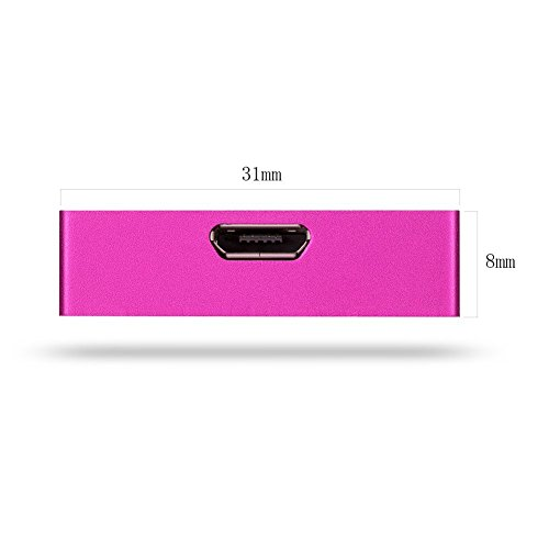 popwinds Memory Card Reader, Wireless Storage Box Expansion USB Smart Wifi Multi Flash Drive for IOS iPhone iPad Pro Air and Android Smartphones (Pink) by popwinds (Image #3)