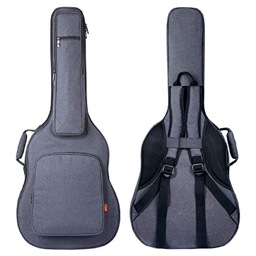 CAHAYA Guitar Bag [Reinforced Version] 0.8 Inch Thick Sponge Overly Padded Extra Protection Guitar Case with 5 Pockets,Neck Cradle,Back Hanger Loop for 40 41 42 Inches Acoustic Classical Guitar (Guitar Case Hard Acoustic)