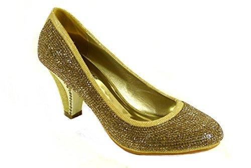 SKOS , Damen Sandalen Gold (A10)