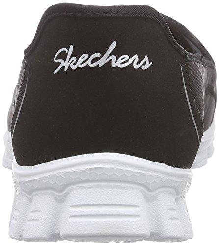 Skechers Sport Femme Rencontre Mode Slip, Noir / Blanc