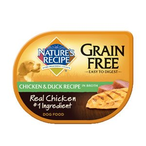Nature's Recipe Grain Chicken & Duck Recipe in Broth Dog Food 24/2.75-oz trays