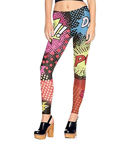 Mosszra Pop Polka Dots Comics Art Digital Print Stretch Pant Leggings for $<!--$7.99-->