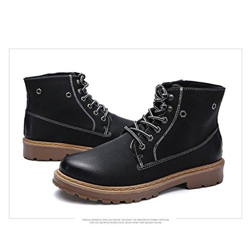 Herbst Schuhe Stiefel Casual Rutschfeste Winter 39 Martin Stiefeletten Herren 2017 44 Black ZxR4fwqq