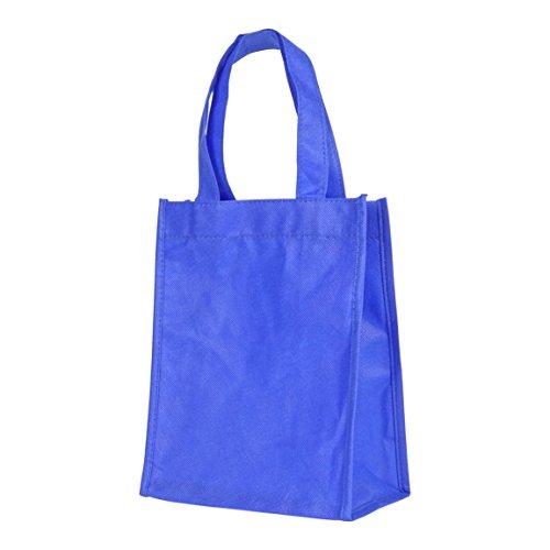Cheap NuFazes 8″ x 10″ Mini Shopping Reuseable Cute Gift Tote Bag – Blue (2 Pack)