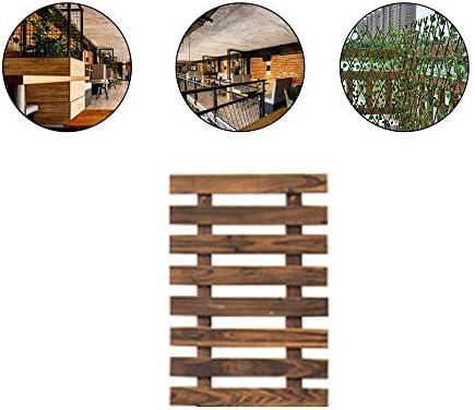 YOGANHJAT Celosía Madera para Jardin Celosía Madera Enrejado Madera Natural Enrejado Extensible Valla jardín Planta Apoyo Pannels enrejados marrón,60×29cm/23.6×11.4in: Amazon.es: Hogar
