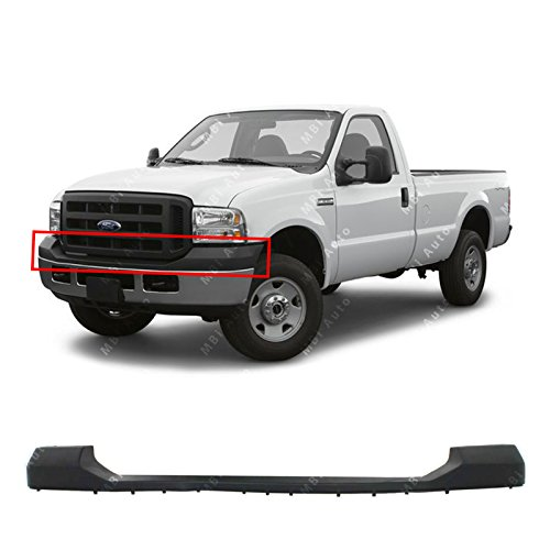 Upper Top Cover - MBI AUTO - Textured, Black Upper Bumper Top Pad for 2005-2007 Ford F250 F350 Super Duty 05-07, FO1000607