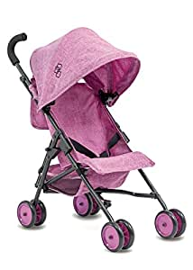 Triokid My First Baby Doll Stroller Miniline Grape Purple Travel Stroller Portable Stroller Drawable Fabric with Removable Weather Resistant Canopy
