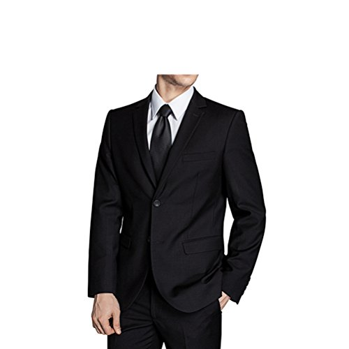 577Loby Men Business Suit Slim Fit Classic Male Suits Blazers Suit Two Buttons 2 Pieces(Suit Jacket+Pants) by 577Loby (Image #4)