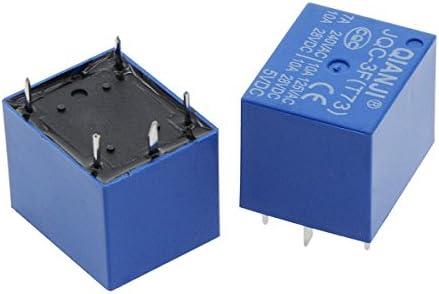 Saim DC 5V Coil 5 Pins Mini SPST Power Relay PCB Type JQC-3F 10 Pcs