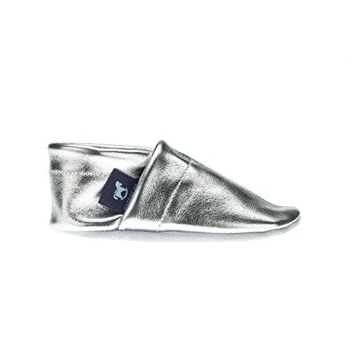 tailles pantau Maison puschen eu puschen Silber couleurs Chaussons patschen chuhe 36–45 Uni Chaussons cuir schluffen BrS7wxqB
