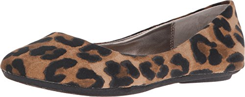 Steve Madden Women's P-Heaven Flat,Leopard Fabric,7.5 M (Animal Print Flats)
