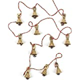 Decorative String of 11 Metal Vintage Indian Style Fairtrade Wall Hanging Bells - Fair Trade - Free Postage by Mystery Mountain