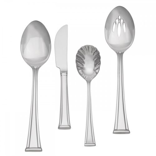 UPC 024258487376, Waterford Kilbarry 18/10 Stainless Steel 4-Piece Flatware Hostess Set