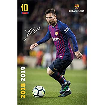 b86831606 FC Barcelona - Soccer/Sports Poster/Print (Lionel Messi in Action - Season