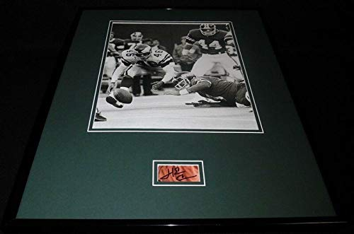 Signed Herman Photo - Herman Edwards Signed Photo - Herm Framed 16x20 Display Miracle at Meadowlands - Autographed NFL Photos
