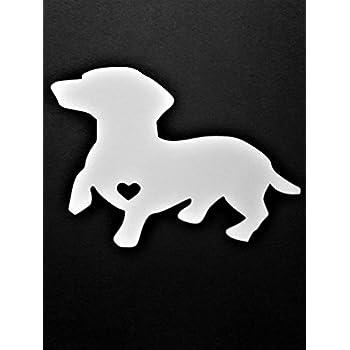 Weenie Dog decal dachshund wiener dog car truck suv atv sticker free shipping