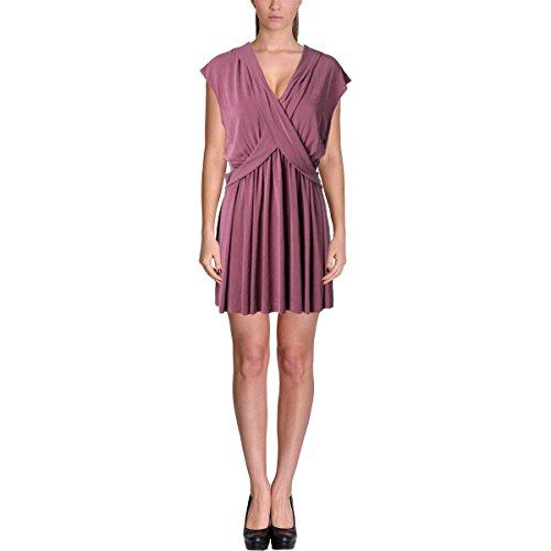 Free People Womens Criss Cross V-Neck Casual Dress Purple S