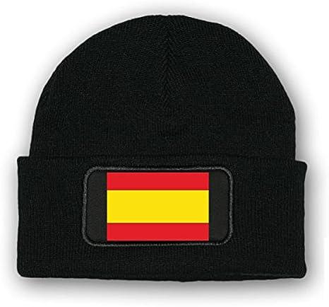 Gorro/beenie – España Bandera _ Escudo España Madrid Barcelona Malle Ejército Uniforme de la bandera de invierno pelo hoheits nadadores Logo Militar # 7041: Amazon.es: Informática