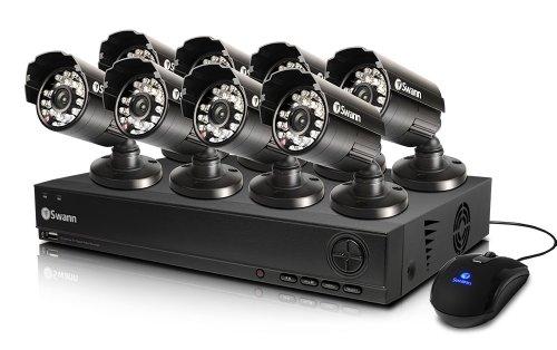 - Swann SWDVK-825558-US 8-Channel DVR and 8 x 540 TVL Cameras (Black)